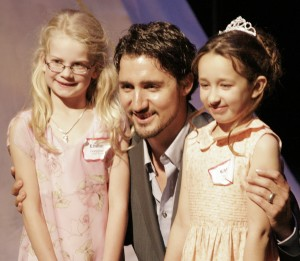 Justin Trudeau - giving students awards