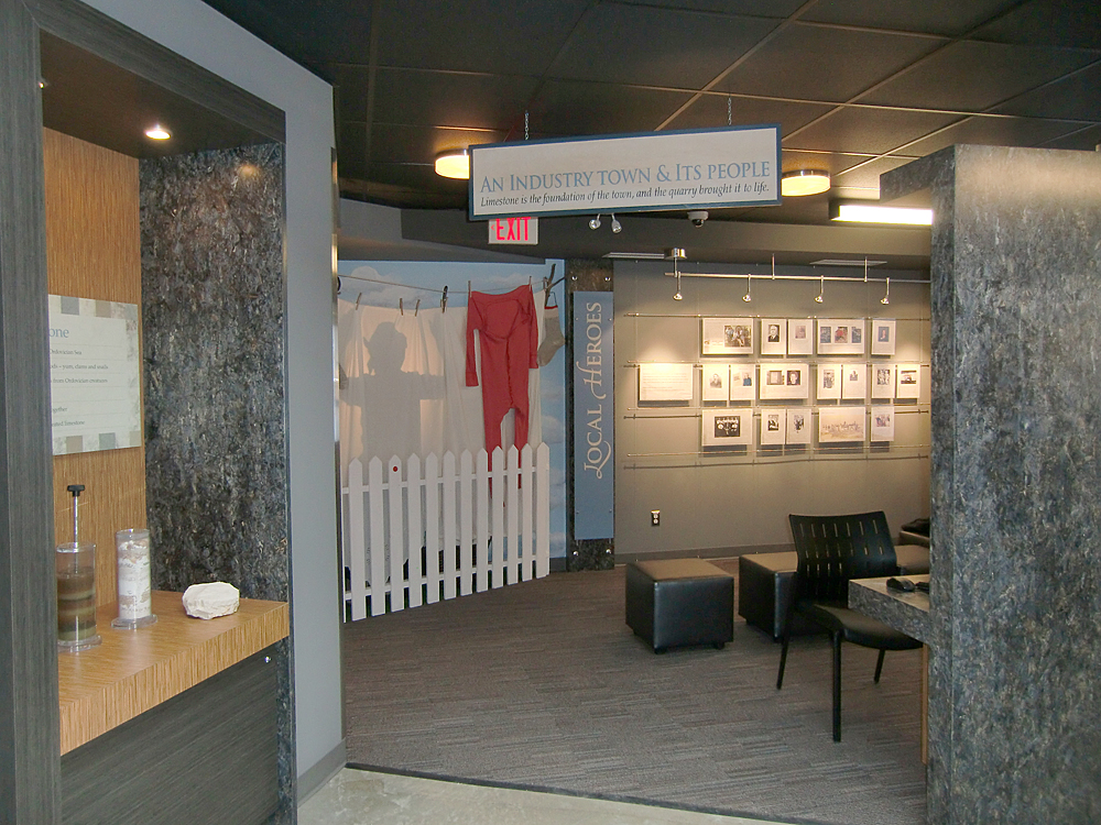 The Town Gallery includes a changeable exhibit about local heroes and a wee theater with oral history videos. Photo: wickettdesign