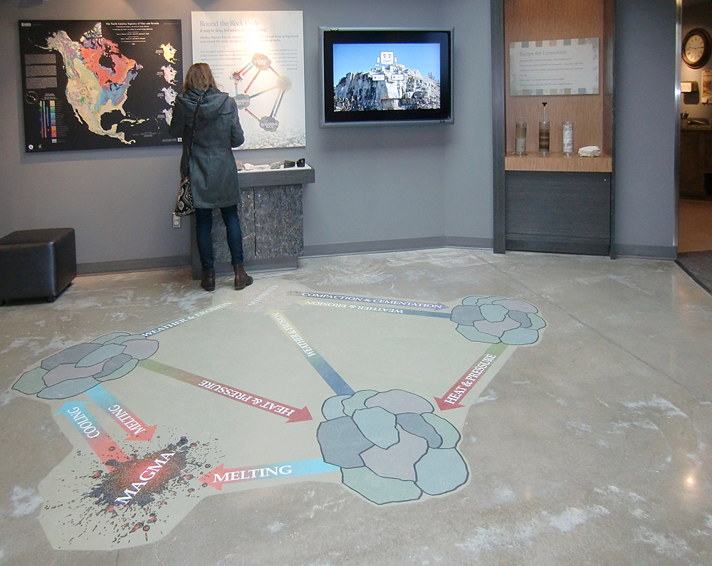 The floor graphic and open area is great for a group of students. Photo: wickettdesign