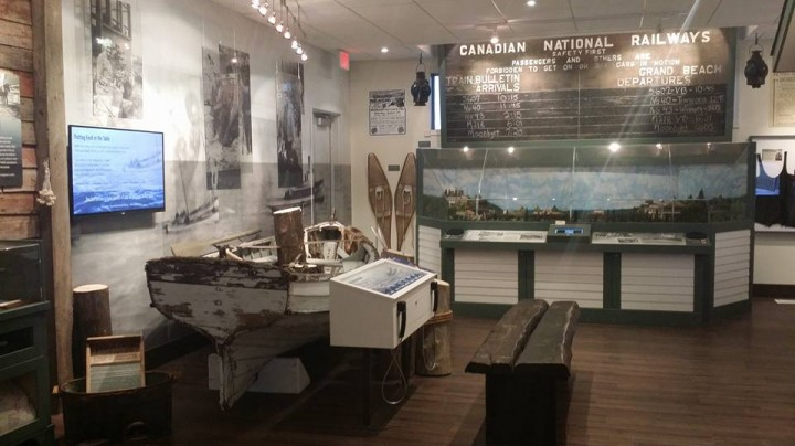 One side of the East Beaches Heritage Wing exhibits