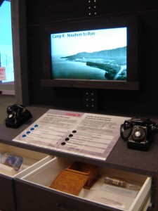 The POW Camp exhibit includes 4 videos you listen to on the telephone, we wrote the scripts and recorded at daCapo Studios